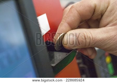 Payment For Coin Purchase In An Electronic Terminal. Poverty, Inflation