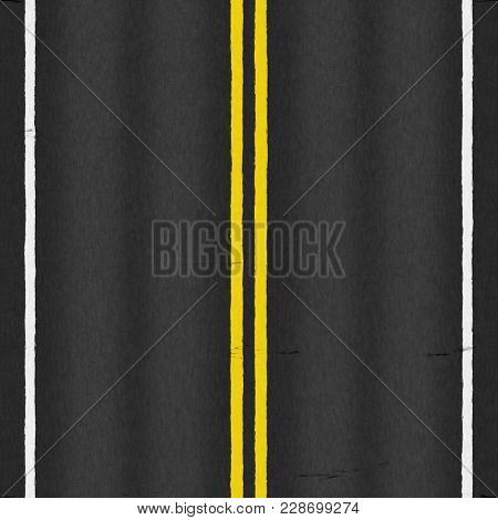 Illustration of a typical asphalt road texture seamless