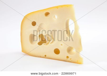 The slice of the Holland gourmet Emmental cheese poster