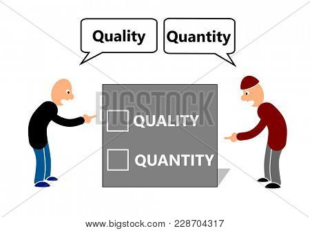 Business disagreement on quality and quantity