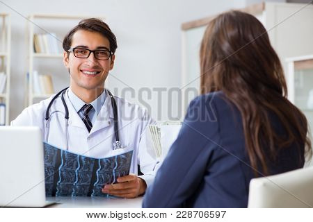Doctor in corruption concept with being offered bribe