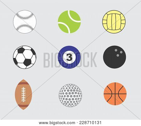 Illustration Of A Set Of Balls For Different Types Of Sports