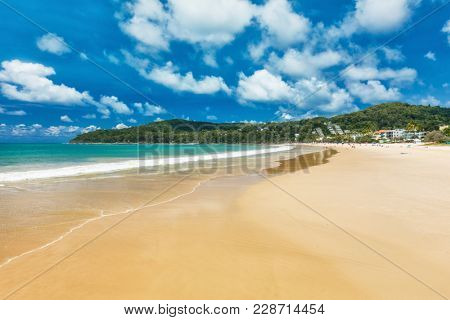 Summer at Noosa main beach - a famous tourist destination in Queensland, Australia.
