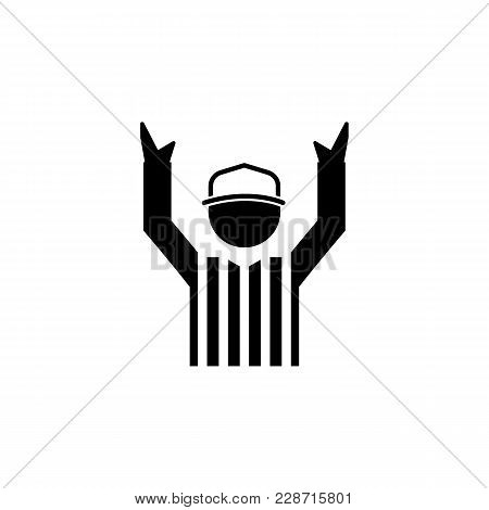 American Football Referee Icon.element Of Popular American Football  Icon. Premium Quality Graphic D