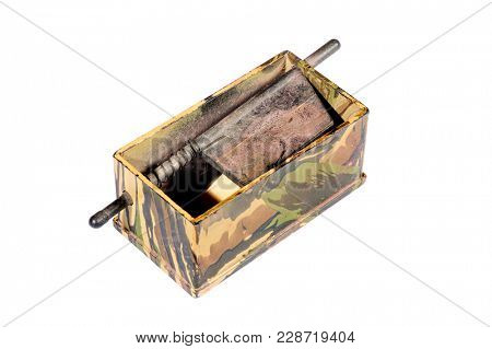 turkey call, a device for simulating turkey sounds and thereby attracting them to the hunter, isolated on white