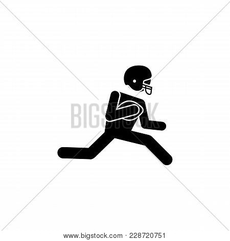 American Football Player Icon.element Of Popular American Football  Icon. Premium Quality Graphic De