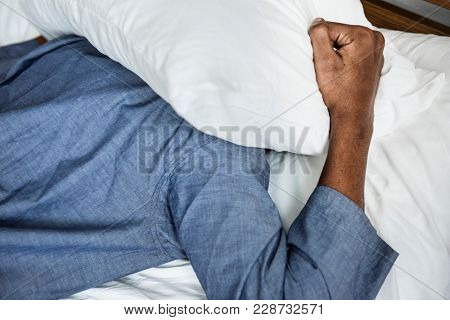 A man with sleeping issue