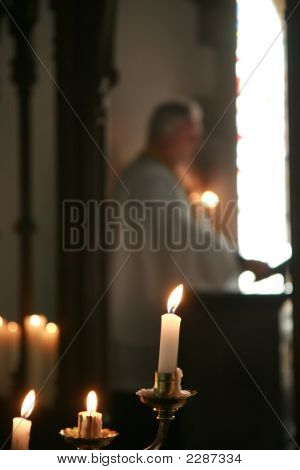 Vicar Presiding Over Ceremony