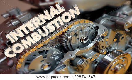 Internal Combustion Engine Motor Power 3d Illustration