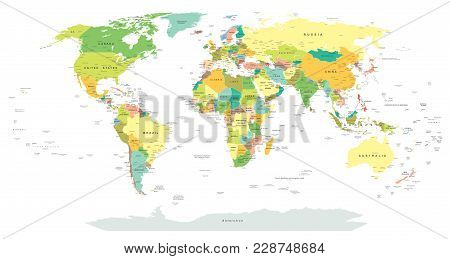 World World Map - Highly Detailed Vector Illustration Detailed