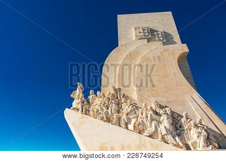 Lisbon , Portugal - February 7: Padrão Dos Descobrimentos (monument Of The Discoveries) Is A Monumen