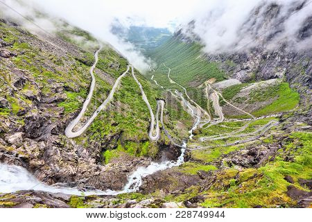 Norway Troll Road - Mountain Route Of Trollstigen. More Og Romsdal Region.