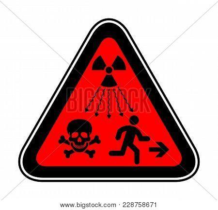 New Iso Standard - Ionizing-radiation Warning Supplementary Symbol. New Un Radiation Sign