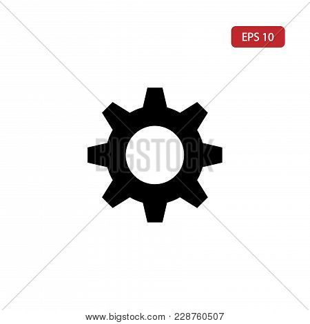 Gear Vector Icon.setting Icon Eps10. Cogwheel Vector Icon Isolated On White Background.gear Vector I