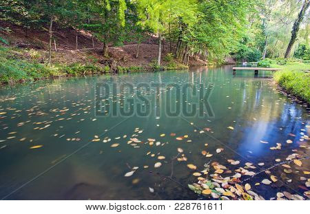 Trout Fish Farm On The Lake In Mountains, Ukraine