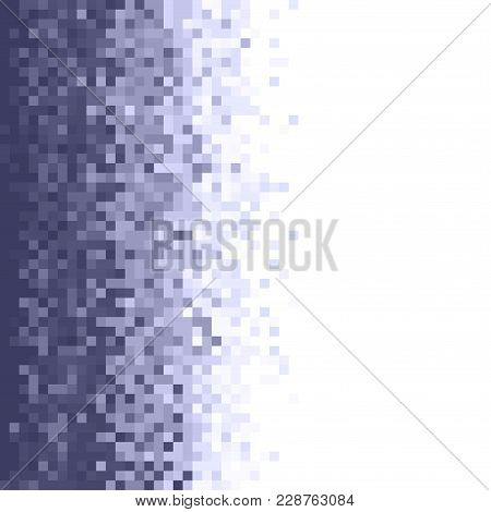 Grey Pixel Square Tiled Mosaic Background. Abstract Digital Background. Geometric Style