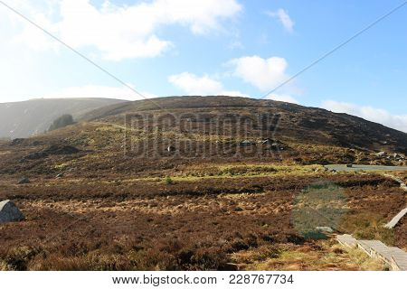 View Over The Wicklow Mountains - Ireland, This Time Of Year There Is Less Greenery But It Is Still