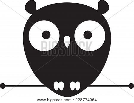 Cute Owl Logo. Owl Wisdom Vector Design Template