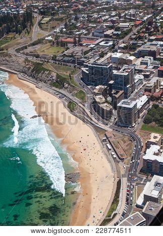 Aerial View Of Newcastle Beach Australia
