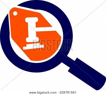 Searching Local Bid Logo Design Template Vector Isolated