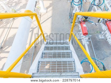Industrial Zone,gas Metering Station And Pipeline At Power Plant
