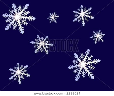 Snowflakes Blue Background
