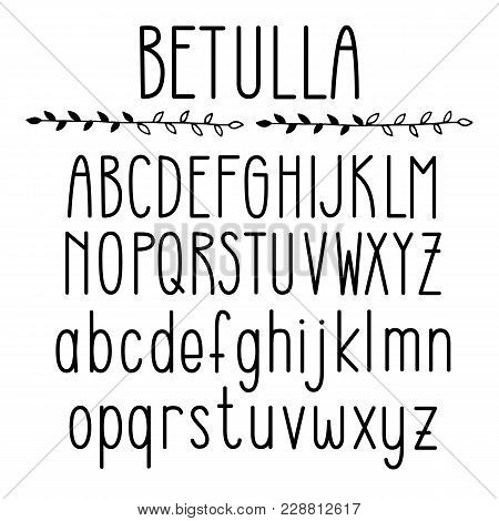 Thin Line Style, Linear Uppercase And Lower Case Modern Font, Typeface, Minimalist Style. Latin Alph