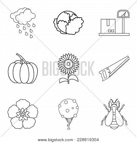 Native House Icons Set. Outline Set Of 9 Native House Vector Icons For Web Isolated On White Backgro