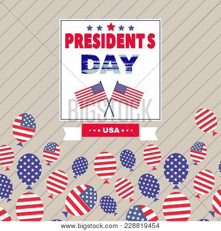 Presidents Day Template Retro Poster. Vector Illustration.