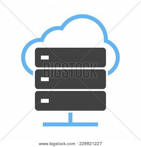 Cloud, Computing, Computer, Network Icon  Image. Can Also Be Used For Computer Hardware, Computer Ne
