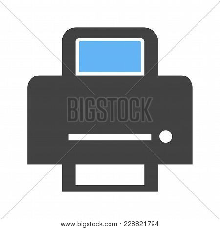 Printer, Printing Machine, Digital Printer Icon  Image. Can Also Be Used For Printing, Office Equipm
