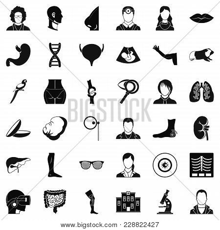 Order of treatment icons set. Simple set of 36 order of treatment vector icons for web isolated on white background poster