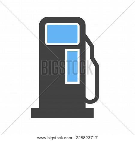 Gas Station, Fuel, Pump Icon  Image. Can Also Be Used For Transport, Transportation And Travel. Suit