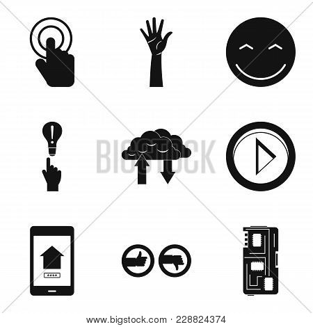 Touchpad Icons Set. Simple Set Of 9 Touchpad Vector Icons For Web Isolated On White Background