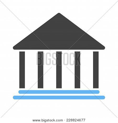 Building, Bank, Institution Icon Vector Image. Can Also Be Used For Banking, Finance, Business. Suit