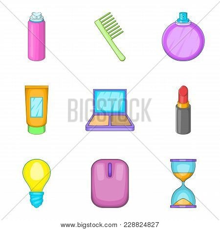 Cleanout Icons Set. Cartoon Set Of 9 Cleanout Vector Icons For Web Isolated On White Background