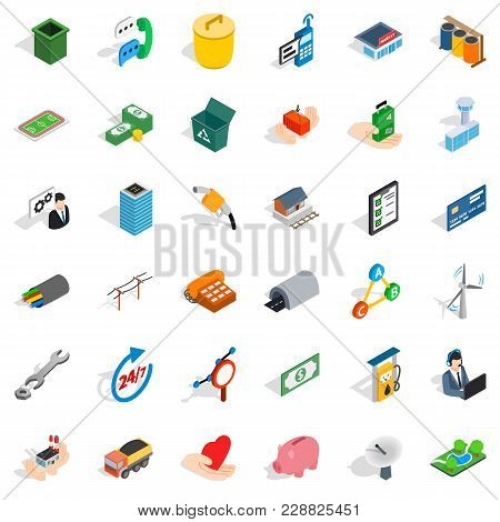 Partnership Working Icons Set. Isometric Set Of 36 Partnership Working Vector Icons For Web Isolated