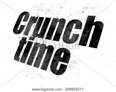 Business Concept: Pixelated Black Text Crunch Time On Digital Background