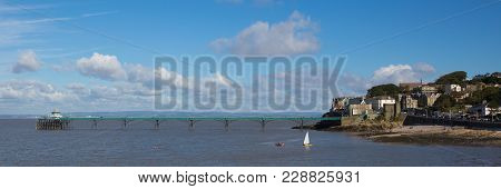 Clevedon Somerset England Uk Coast Town Near Bristol And Weston-super-mare Panoramic View