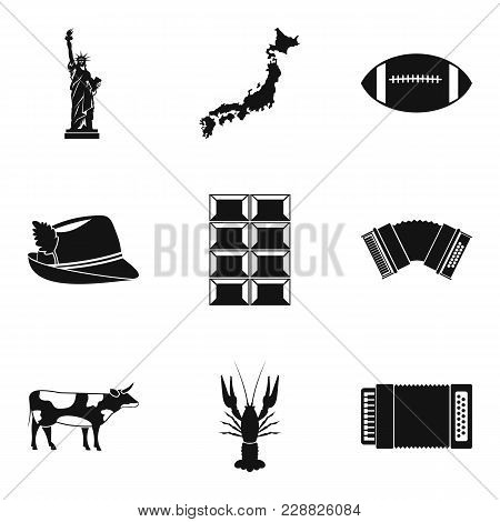 Tourist Sight Icons Set. Simple Set Of 9 Tourist Sight Vector Icons For Web Isolated On White Backgr
