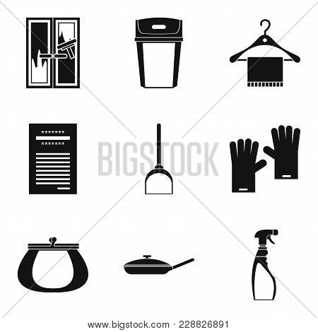 House Rest Icons Set. Simple Set Of 9 House Rest Vector Icons For Web Isolated On White Background