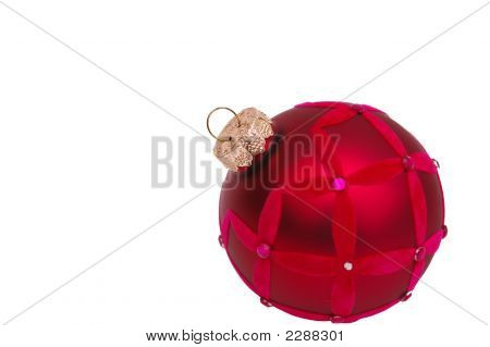 Red Trendy Christmas Ornament