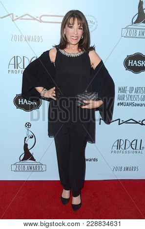 LOS ANGELES - FEB 24:  Kate Linder at the 2018 Make-Up Artists and Hair Stylists Awards at the Novo Theater on February 24, 2018 in Los Angeles, CA