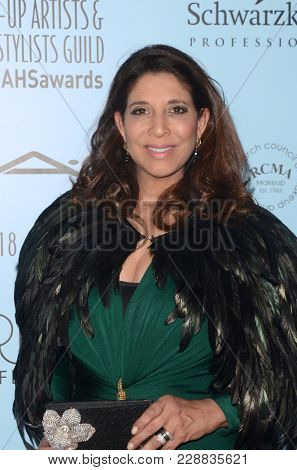 LOS ANGELES - FEB 24:  Christine Devine at the 2018 Make-Up Artists and Hair Stylists Awards at the Novo Theater on February 24, 2018 in Los Angeles, CA