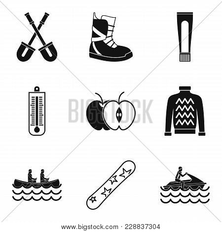 Sporting Event Icons Set. Simple Set Of 9 Sporting Event Vector Icons For Web Isolated On White Back
