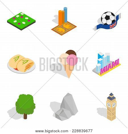 New Impression Icons Set. Isometric Set Of 9 New Impression Vector Icons For Web Isolated On White B
