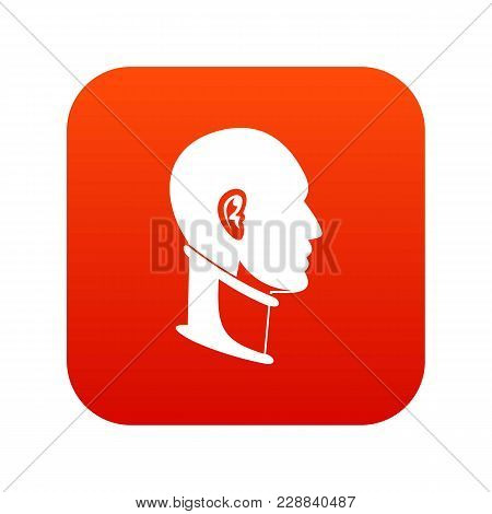 Cervical Collar Icon Digital Red For Any Design Isolated On White Vector Illustration