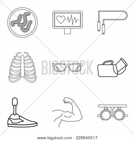 Population Health Icons Set. Outline Set Of 9 Population Health Vector Icons For Web Isolated On Whi