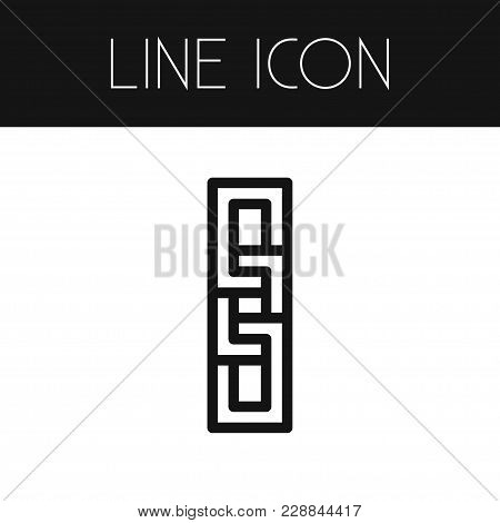 Isolated Chain Icon Line. Attach  Element Can Be Used For Unlink, Link, Connection Design Concept.