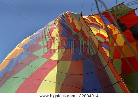 Deflating Hot Air Balloon, Guides Ropes